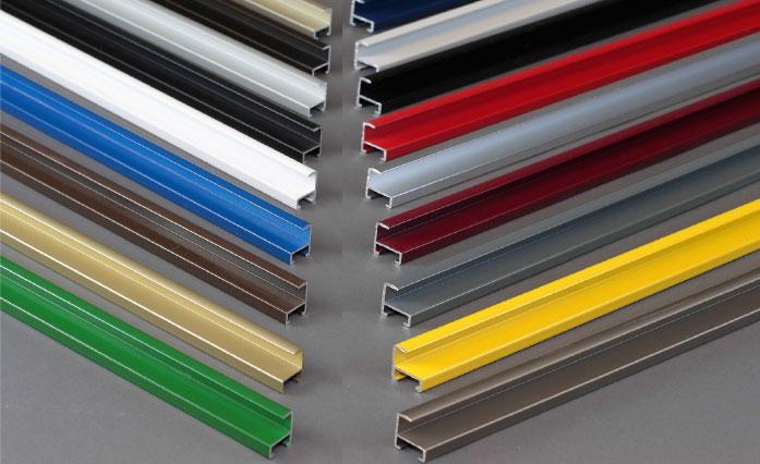 Perfil de aluminio para enmarcado vinilos planchas y mas for Colores de perfiles de aluminio